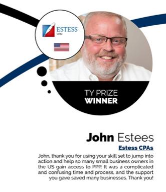 Congratulations John Estess, CPA, for being recognized by Thank You Small Business!