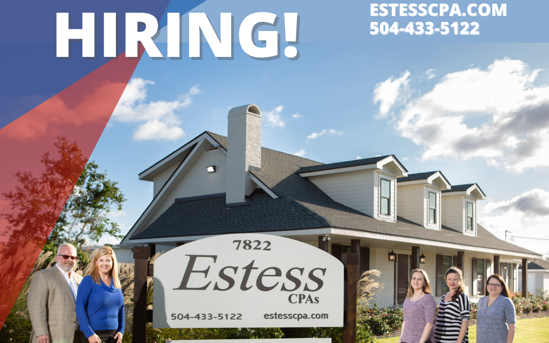 We're Hiring! ACCOUNTING ASSISTANT / BOOKKEEPER – Join our successful CPA firm!